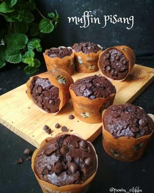 Cara Membuat Muffin Pisang