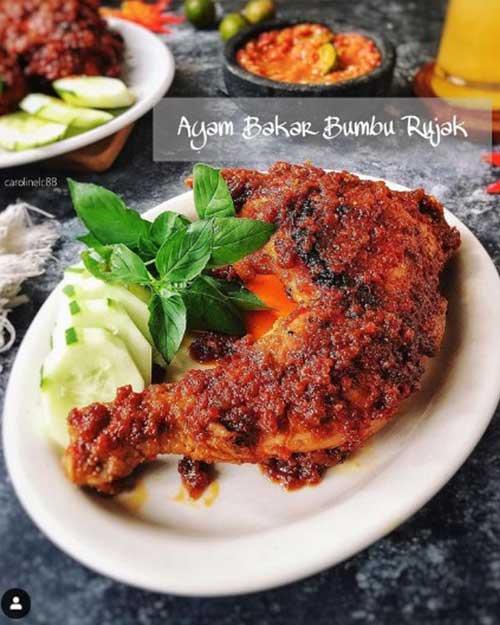 Resep Ayam Bakar Bumbu Rujak Gurih Lezat 1