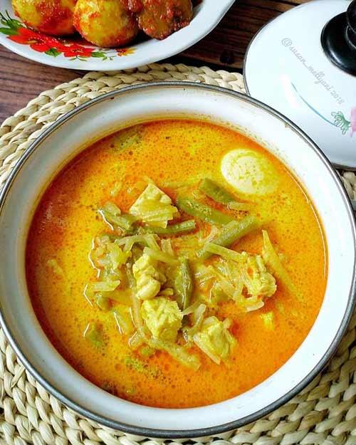 Resep Sayur Labu Siam santan Untuk Ketupat