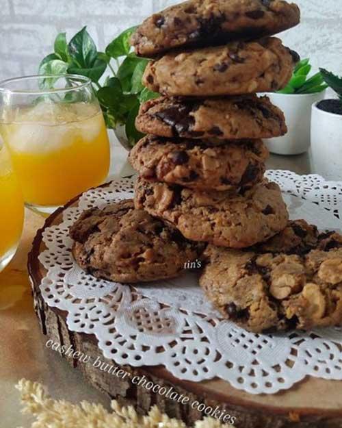 Resep Cookies Cashew Butter Coklat